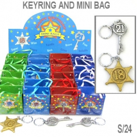 18th/21st KEYRING W/MINI BAG S/24