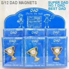DAD TROPHY MAGNET S/12