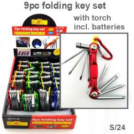 7 PC FOLDING KEY SET