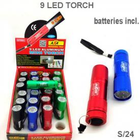 9 LED ALUMINIUM MINI TORCH