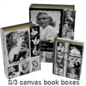 CANVAS BOOK BOX MARILYN MONROE