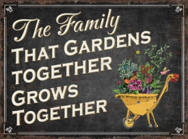 THE FAMILY THAT GARDENS PLAQUE