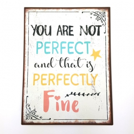 YOU ARE NOT PERFECT PLAQUE