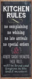 KITCHEN RULES-NO COMPLAINING