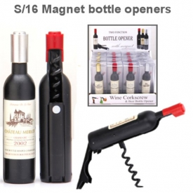 MAGNET BOTTLE OPENER DISP 16