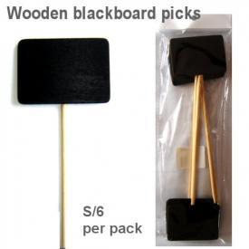 SQUARE BLACKBOARD PICK BLACK S/6