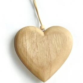 HEART ON STRING BEIGE
