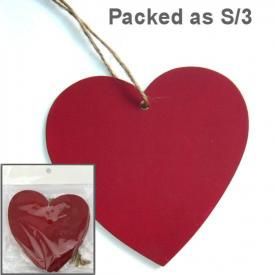 RED HEART ON STRING SET 3