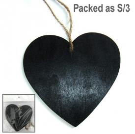 BLACK HEART ON STRING SET 3