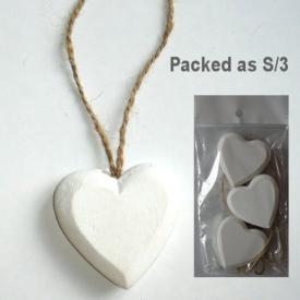 WHITE HEART ON STRING SET 3
