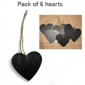 BLACK HEART ON STRING SET 6