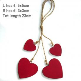 RED HEARTS ON STRING