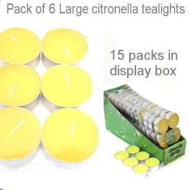 CITRONELLA LARGE TEALIGHTS S/6
