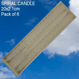 SPIRAL CANDLE WHITE 20cm