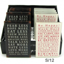 GLASS PLAQUE - FEAR LESS, BE HAPPY