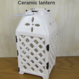 CERAMIC LANTERN WHITE