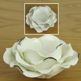 CANDLE HOLDER WHITE