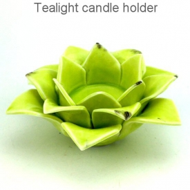 CANDLE HOLDER GREEN
