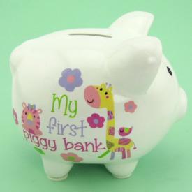 MY FIRST PIGGY BANK- GIRL