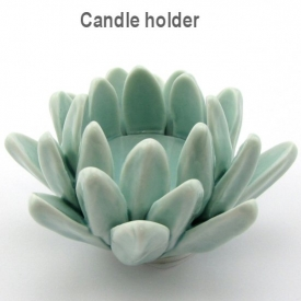 CANDLE HOLDER BLUE 9.5x4.5cm
