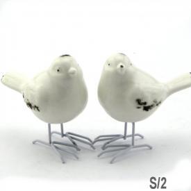 BIRDS WHITE 2 ASSTD
