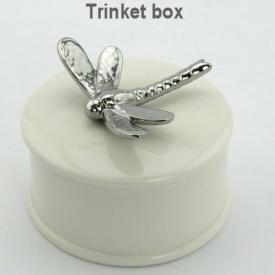 DRAGONFLY TRINKET BOX METALLIC