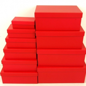 BOXES RED SET 10