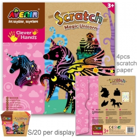 SCRATCH BOARD UNICORNS