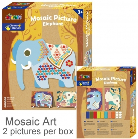 MOSAIC PICTURE ELEPHANT